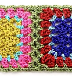 This method simulates a braid join and is accomplished by crocheting pre-edged blocks together. It's fast and easy but uses more yarn and cr...