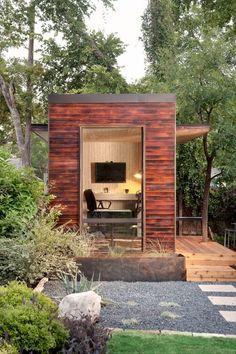 Prefab, great backyard home office.