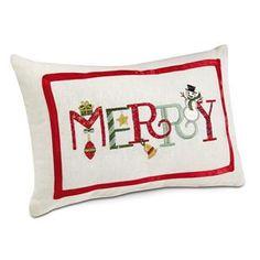 Merry Holiday Pillow | Lillian Vernon - NEW Sale | Lillian Vernon