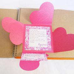 Tarjeta 4 corazones Modelo Madreselva