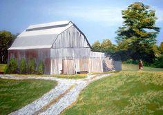 Maryland Barn Landscape - via @Craftsy