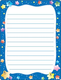 Stationary Printable, Printable Lined Paper, Boarder Designs, Borders For Paper, Frame Clipart, School Frame, Graph Paper, Stationery Paper, Writing Paper