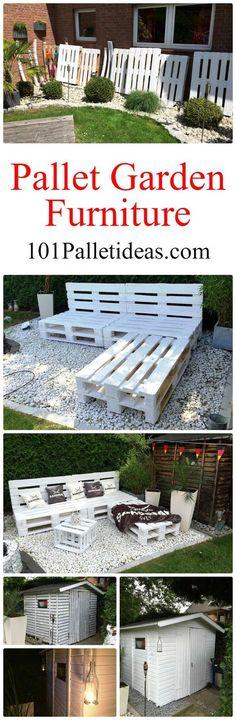 Pallet Garden Furniture – DIY - 101 Pallet Ideas