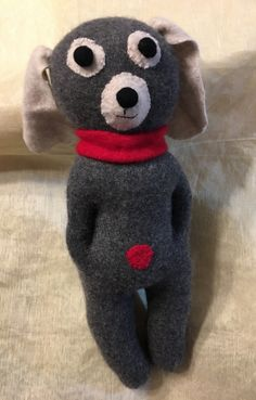 A personal favorite from my Etsy shop https://www.etsy.com/listing/500072992/gray-plush-cashmere-dog-upcycled-kids