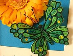 beautiful quilled butterflies ~ art craft projects