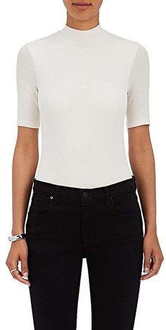 ATM Anthony Thomas Melillo Women's Rib-Knit Mock Turtleneck Bodysuit
