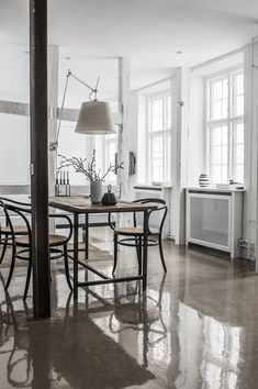 glossy concrete floors