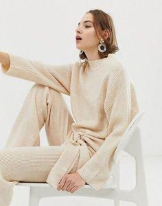 67de0474ac6 Mango Knitted Sweater   Pants Two-Piece Autumn Fashion Casual