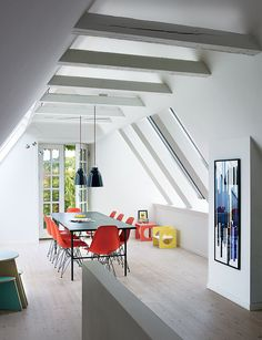A Cramped Attic Became a Sunny Dining Room in this Renovation of a Copenhagen Tudor | Dwell