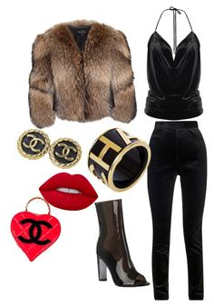 """""""CC"""" by yasmineings on Polyvore featuring Adrienne Landau, Haider Ackermann, Chanel and Lime Crime"""