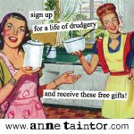haha- the only bad thing about being a woman in the 40's/50's is that you were a homemaker robot, baby-maker, and happy housewife...not really my cup of tea.