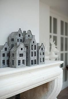 Metal dollhouse Living room Whitewashed Cottage chippy shabby chic french country rustic swedish decor idea.  *** Repinned from Angela Millan Garcia ***.