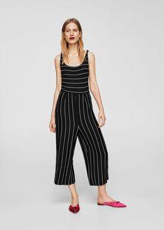 Striped jumpsuit | MANGO
