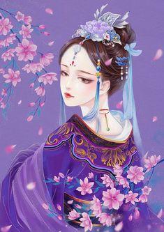 Ảnh đẹp - nữ cổ trang - Wattpad Anime Fantasy, Fantasy Art, Illustrations, Illustration Art, Chinese Picture, Asian Artwork, Images Wallpaper, Wallpapers, China Art