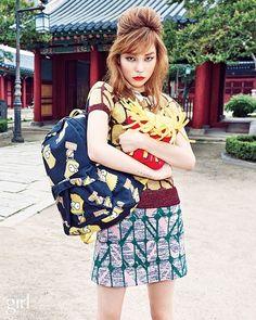 Jin Jungsun by Zoo Younggyun for Voguegirl Korea Aug 2014