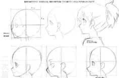 como dibujar cabezas de mujeres Gráficos que muestran como dibujar partes del cuerpo y otros