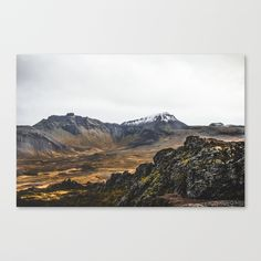Buy Mountains and Volcano of Iceland. || Snowy Tops. || Travel Shots. || MadaraTravels Canvas Print by madaratravels. Worldwide shipping available at Society6.com. Just one of millions of high quality products available.