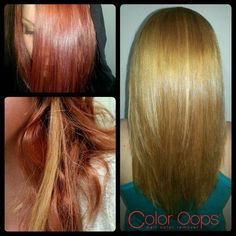 Ever wonder about what kind of results you get from Color Oops? Easily change your hair color whenever you feel like it. **Note this does not work on direct dyes like Splat, Manic Panic ect.
