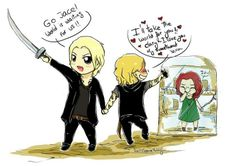 clarissa 'clary' fray, jace herondale, jonathan morgenstern, the mortal instruments