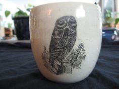 Little rock owl mug by PirateRosePottery on Etsy, $38.00