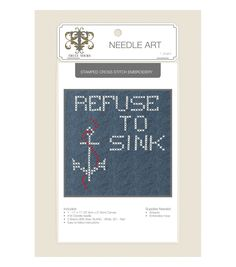 Truly Yours™ Needle Art Stamped Embroidery Kit- Sink