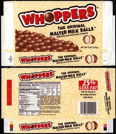 CC_Hershey's – Whoppers – The Original Malted Milk Balls – candy box – 2012 Chocolates, Candy Box Template, Doll House Crafts, Doll Houses, Movie Candy, Minis, Hershey Candy, Candy Packaging, Barbie Food
