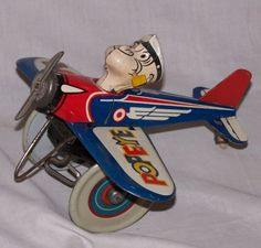 Popeye The Pilot Wind Up Toy
