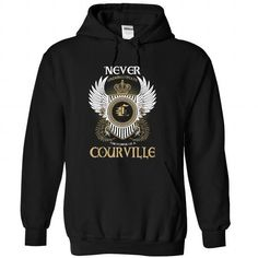 cool COURVILLE Name Tshirt - TEAM COURVILLE, LIFETIME MEMBER