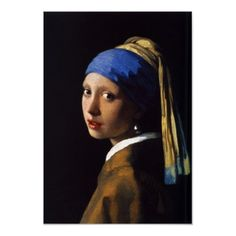 "The original, by Johannes Vermeer, 17th century. The painting is at the Mauritshuis gallery in The Hague; it is sometimes called the ""Mona Lisa of the North,"" or ""the Dutch Mona Lisa."""