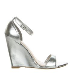 Gorgy01 Silver Classic Wedge Dress Sandal Toe Strap Ankle Strap Women Bamboo Shoe-8  - Click image twice for more info - See a larger selection of bridal shoes at   http://zweddingsupply.com/product-category/bridal-shoes/ - woman , wedding , wedding fashion, wedding style, wedding ideas, woman fashion, shoes.