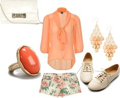 """""""floral coral"""" by dreamer-dx on Polyvore"""