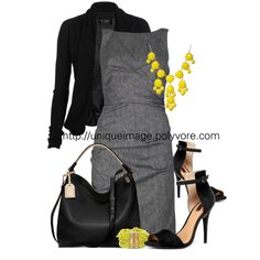 Pop of Yellow by uniqueimage on Polyvore