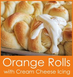 Orange Rolls with Cream Cheese Icing from Jamie Cooks It Up!