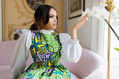 Ankara fabric has literally over-time taken over every single event in Africa, and it's not even taking a break as more and more styles spring up every now and then,… African Maxi Dresses, Ankara Dress Styles, Latest African Fashion Dresses, African Attire, Ankara Fashion, Ankara Blouse, African Clothes, African American Fashion, African Print Fashion