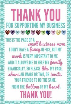 Did you know there's an easy way to help my small business without even buying anything? Every time you LIKE, SHARE, TAG OR COMMENT on my posts, you are helping me get the word out.Please Feel Free To Invite Your Friends And Family To Join My VIP Group! Thank you for taking the time to help a small businesses like mine.Like My Business Page: https://www.facebook.com/LorieJacksonJamberry/  Join My VIP Group: https://www.facebook.com/groups/JustAJamminWithLorieJackson #smallbusinessideas