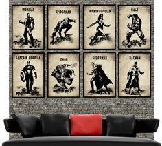 "Mega collection super hero retro movie marvel poster prints 8x 11""x17""- Art illustration print poster. on Etsy, $85.00"