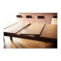BJURSTA Extendable table IKEA Extendable dining table with two extra leaves seats 6-10, so you can quickly and easily adapt the table to you...