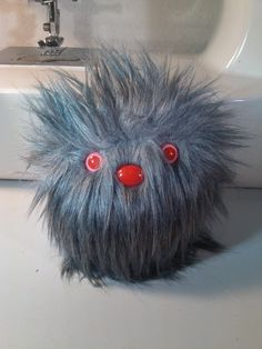 Furry Monster Plush - 4 Grey Coodle. $10.00, via Etsy.