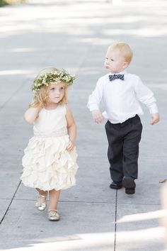 She's a doll - and he just cracks me up! Flower Girl + Ring Bearer | On SMP | Photography: Jade and Matthew Take Pictures
