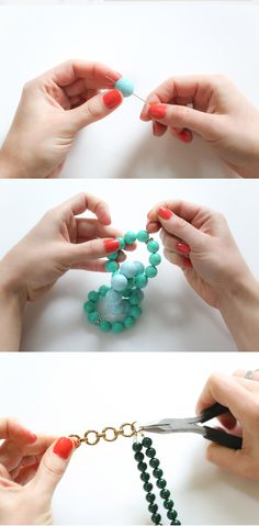An easy tutorial to make your own gorgeous statement necklace!