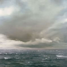 """Gerhard Richter ~ """"Marine 'Nuageux'"""", 1969 ~ Huile sur Toile (200 x 200 cm)"""