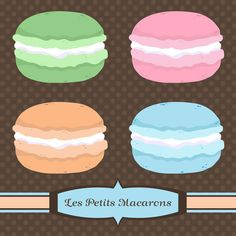 Les Petits Macarons by MoreeFox on Creative Market