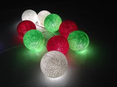 Christmas Fairly lights cotton ball string lights for Patio,Christmas,Party and Decoration, Christma Patio Lighting, Unique Lighting, Patio Wedding, Cotton Ball Lights, Christmas Decorations, Christmas Tree, Fairy Lights, String Lights, Red And White
