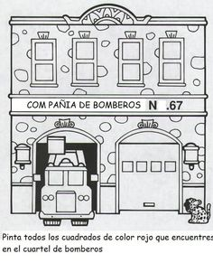 Estacion De Bomberos Para Colorear 94118 Airblue
