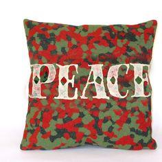 Visions II Peace Indoor/Outdoor Throw Pillow