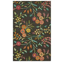 The Eden Harbor Big Floral Area Rug adds color and artistic expression to any floor surface. Hand-tufted and looped color fields of soft wool provide exquisite detailing to its alluring, textured floral pattern. Beautifully accentuates any room décor.