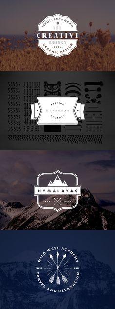 4 Vintage Logo Badges | GraphicBurger