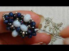 Beading Projects, Beading Tutorials, Beading Patterns, Seed Bead Earrings, Beaded Earrings, Beaded Bead, Diy Beaded Rings, Twin Beads, Bead Jewellery