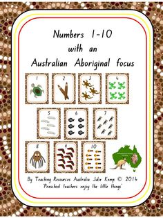 Numbers with an Australian Aboriginal focus by Teaching Resources Australia Julie Kemp Aboriginal Art Symbols, Aboriginal Language, Aboriginal Education, Indigenous Education, Aboriginal Culture, Aboriginal Dreamtime, Indigenous Art, Naidoc Week Activities, Numeracy Activities