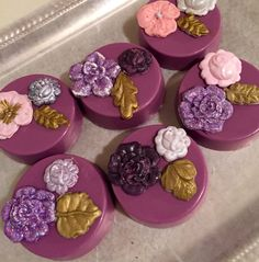 Vintage floral chocolate covered Oreos